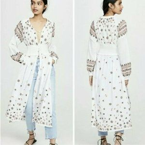 Free People Mykonos Embroidered Dress XS